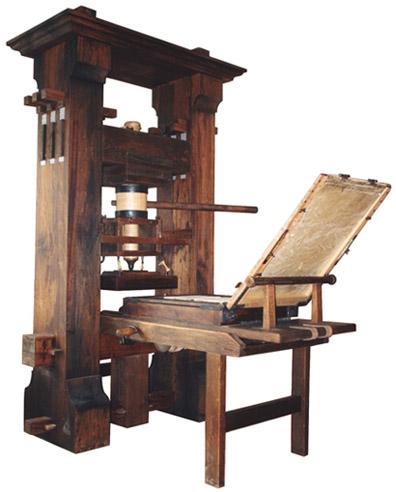 Original Gutenberg Printing Press History Of Reco...