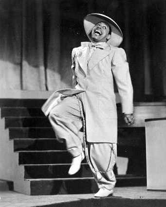 Cab Calloway performing in a Zoot Suit